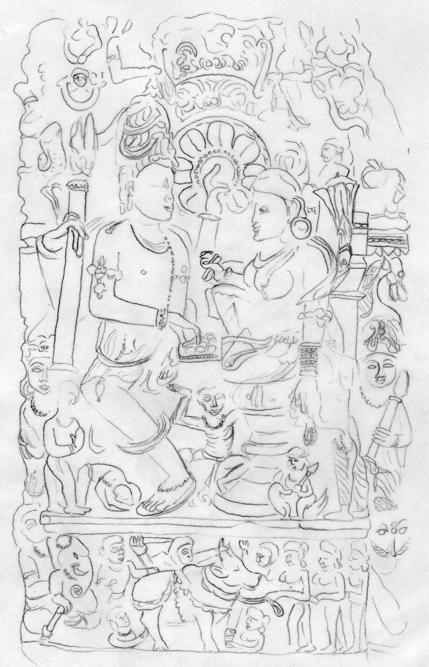 Fig. 2 : Madhya Pradesh. Xe siècle environ. (Jabalpur, Rani Durgavati Museum)