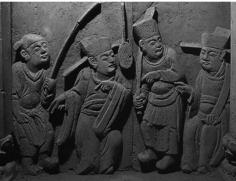 Fig. 3 : Tombe Jishan Macun M 2 - Scène d'une pièce de théâtre