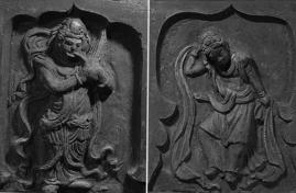 Fig. 7 : Danseurs musiciens, tombe de Beisucun, Shanxi