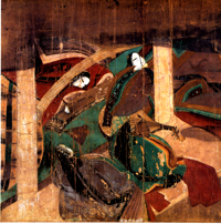"Ill. 2 : Le rouleau de peinture du ""Roman du Genji-Hashinime 2"""