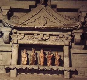 Ill. 3 : Tombe Houma Dong Ming, théâtre miniature, époque Jin