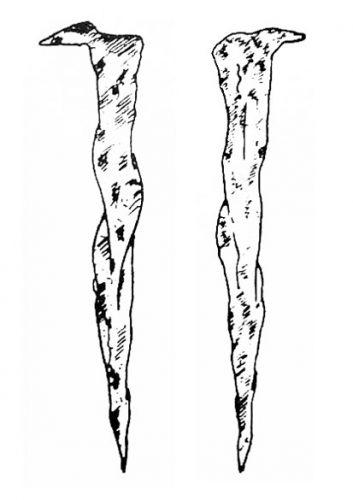 Figure 4. Dessin de clous découverts dans la sépulture A2 à Draria el-Achour.