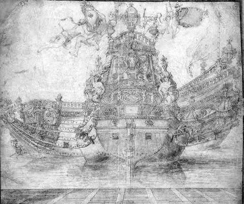 Figure 3. Pierre Puget, Dessin pour servir à la décoration de vaisseaux.