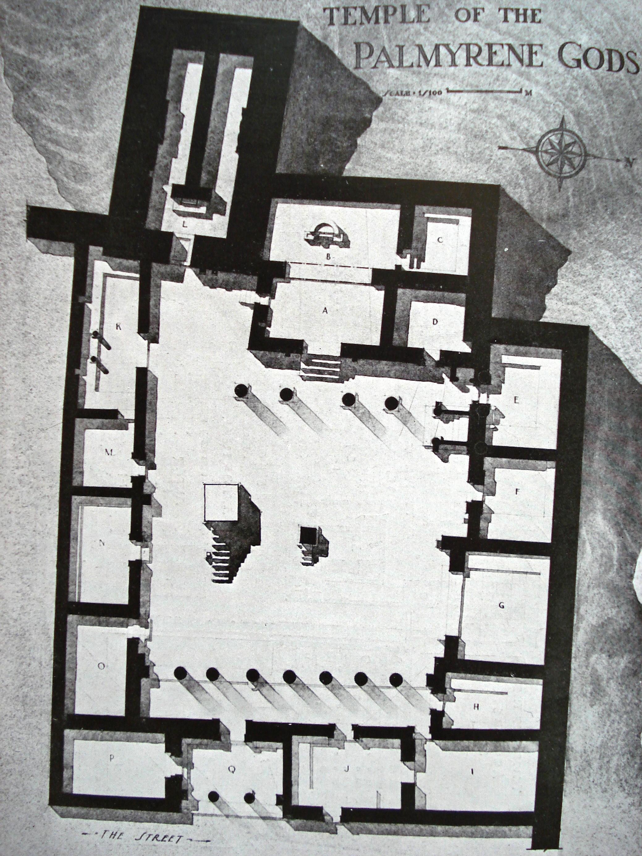 Fig. 6. Plan du sanctuaire de Bêl (Doura-Europos). P.R. V, pl. IV.