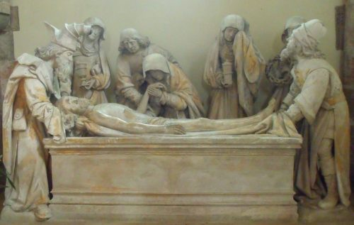 Fig. 9 : Adrien Wincart, d'après un patron de Colin d'Amiens, La Mise au tombeau, 1495, Malesherbes, Église Saint-Martin.
